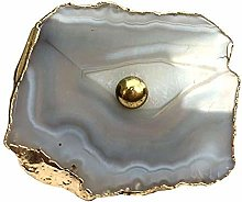 Natural Agate Knob Grey Cabinet Drawer Pull