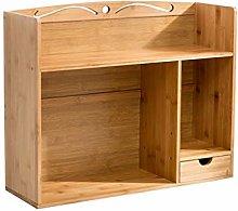 Natural Bamboo Desk Organizer Multipurpose