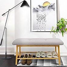Natural Bamboo Shoe Rack,Simple Sofa Stool