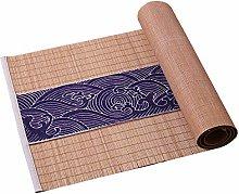 Natural Bamboo Table Runner,Japanese Cotton Linen