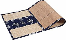 Natural Bamboo Table Runners with Cloth Border,