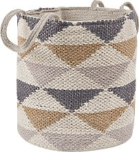 Natural Cotton Basket Storage Laundry Bin Handles