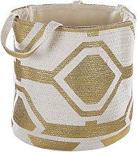 Natural Cotton Woven Storage Basket Laundry Bin