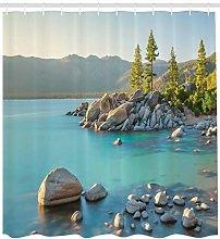 Natural countryside lake beach High-definition