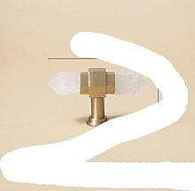Natural Crystal+ Solid Brass Knobs T Bar Handles