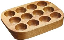 Natural Elements Acacia Wood Egg Rack KitchenCraft