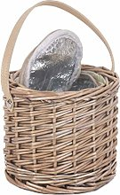 Natural Grey Woven Wicker Insulated Wine Champagne