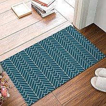 Natural Herringbone Printed Doormat Entrance Mat
