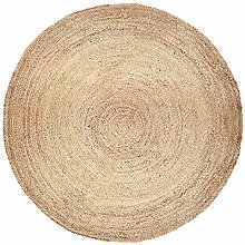 Natural Large Jute Round Rug for Living Room