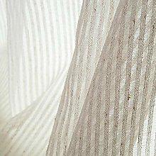 Natural Linen Voile Curtains Stripe Semi