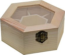 Natural Plain Wooden Jewelry Storage Box with