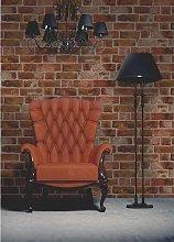 Natural Rustic Brick Wallpaper Red / Brown FD31045