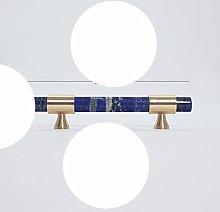 Natural Stone + Brass Knobs European T Bar Handles
