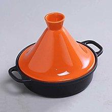 Natural Tagine Cooking Pot, Cast Iron Pot Ceramic