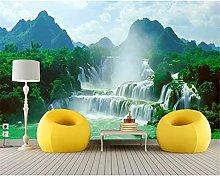 Natural Waterfall Landscape Wallpaper 3D Mural