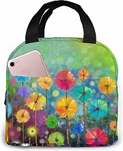 Nature Flowers Lunch Bag Insulated Tote Bag Lunch
