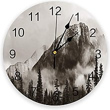 Nature PVC Wall Clock, Silent Non-Ticking Round