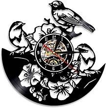 Nature Wall Art Decor, Three Birds, Flower,
