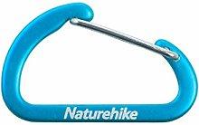 Naturehike 8pcs D Shape Camping Carabiner 4cm