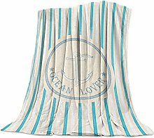 Nautical Anchor Ocean Lovers Vertical Stripe