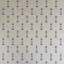 Nautical Lighthouse Design Cotton Rich Linen Look