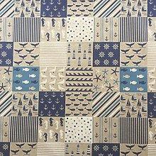 Nautical Seaside Patchwork Design Cotton Rich