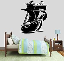 Nautical Wall Decals Boat sail Ocean Theme Vinyl