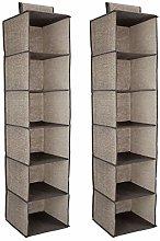 Navaris 2x Wardrobe Closet Storage Organiser - 30