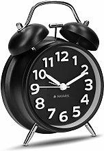Navaris Retro Analogue Alarm Clock - Classic Wind