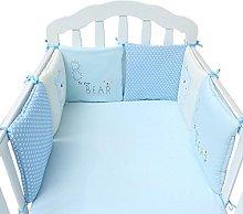 Navigatee Crib Bedding Set,all round bumper