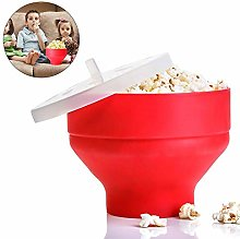 Navigatee Silicone Popcorn Bowl, Microwave Popcorn