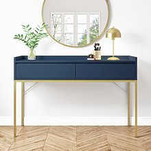 Navy 2 Drawer Dressing Table - Zion