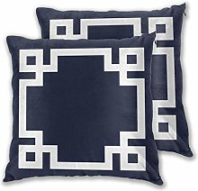 Navy Blue And White Greek Key Border Daily