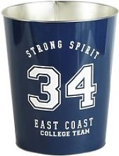 Navy Blue Print Metal Basket