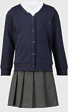 Navy Cardigan, Polo & Skirt Schoolwear Bundle - 5