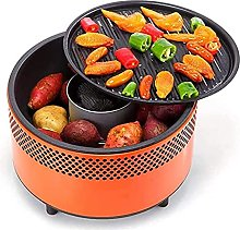 Nawxs Grill Round Smokeless Charcoal Grill Indoor