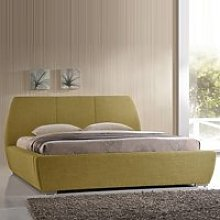 Naxos Contemporary Double Bed In Green Fabric With