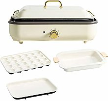NBCDY Hot Pot Electric Grill, Mini Multi-function