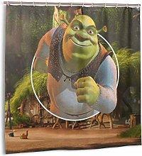 NBHJU Shrek Shower Curtain Lined with Waterproof