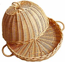 NBRTT Handmade Bamboo Food Dome Lid Cover Wicker