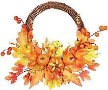 NC Autumn Wreath Front Door Decorations with