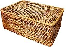 NC Rattan Storage Basket Desktop Coffee Table