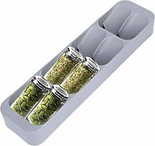 NCONCO Spice Jar Drawer Organiser, 8 Grids Spice