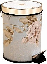 NDYD Round Step Trash Can Wastebasket With Lid,12l