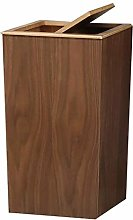 NDYD Trash Can Large Wood Wastebasket With