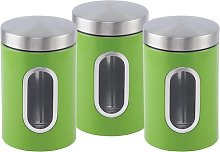 Nea 3 Piece Coffee, Tea, & Sugar Jar Set SQ