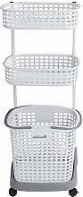 Neadas 3 Tier Dirty Clothes Laundry Rolling basket