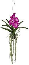 "NearlyNatural 41"" Vanda Orchid Hanging Basket,"