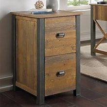 Nebura Wooden Filing Cabinet In Reclaimed Wood