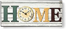 NEDIS Wooden Wall Clock with Home Design, 43cm